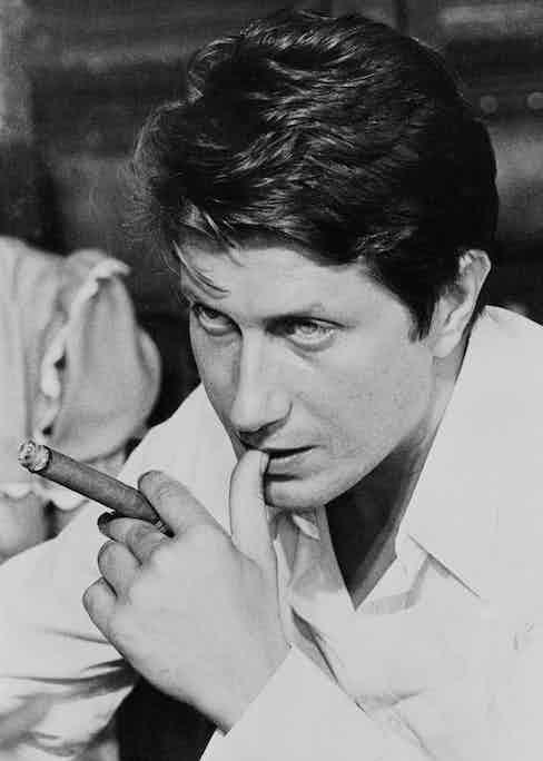 Jacques Dutronc on the set of Le Bon et les Méchants in 1976 (Image by © Cat's Collection/Corbis)
