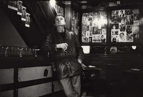 Francis Bacon drinking in Soho's French House.