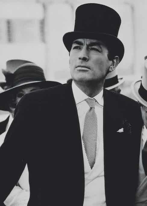 Gregory Peck at Ascot in a scene from Arabesque, 1966 (Photo by Michael Ochs Archives/Getty Images)