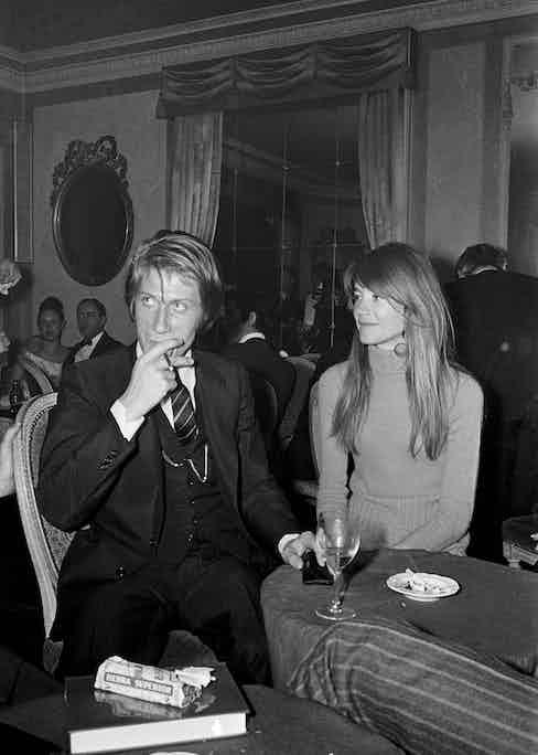 Jacques Dutronc and Françoise Hardy (Photo by Jean-Claude Deutsch/Paris Match via Getty Images)