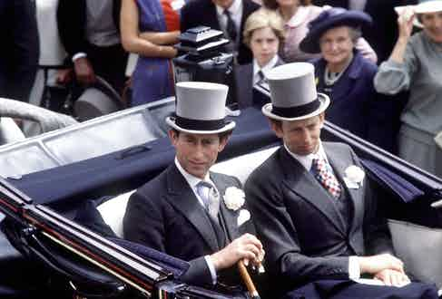 Prince Charles With the Duke Of Kent, 1980 (Photo by Tim Graham/Getty Images)