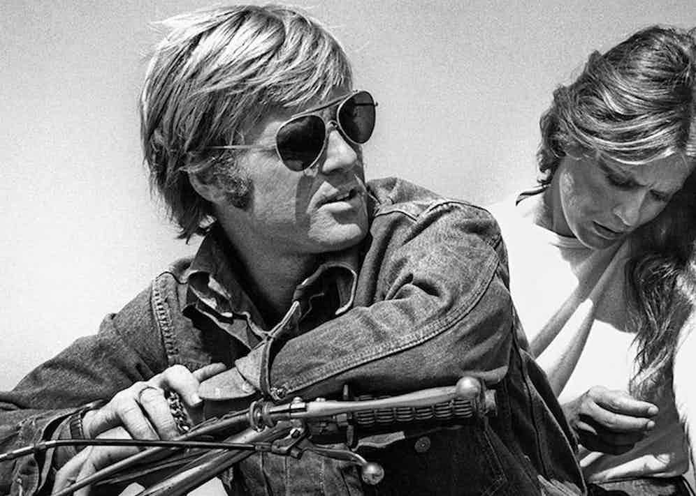 Lauren Hutton and Robert Redford, 1970 (Photo via Corbis)