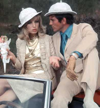 Monica Vitti and Terence Stamp, Modesty Blaise, 1966 (Photo by 20th Century Fox/Kobal/Shutterstock (5885840k)
