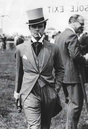 Prince Aly Khan in a morning suit and top hat at Chantilly, France, 1939 (Photo by ANL/REX/Shutterstock (1233603a)