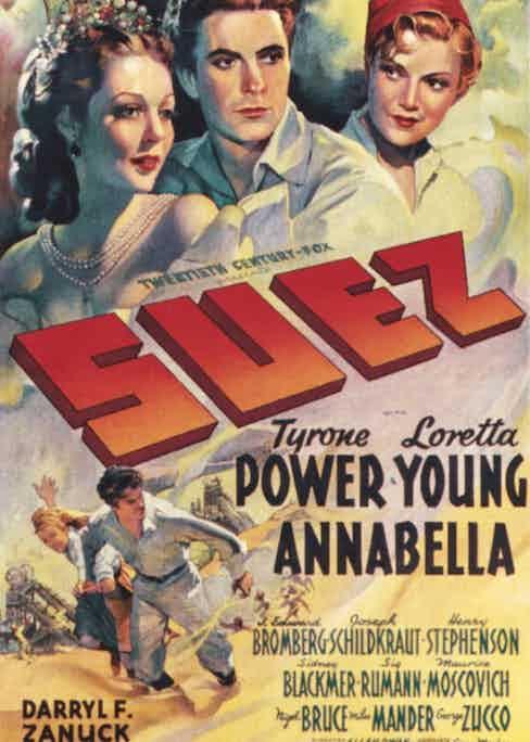Film poster, Suez, 1938 Photo by Everett/REX/Shutterstock (2995115a)