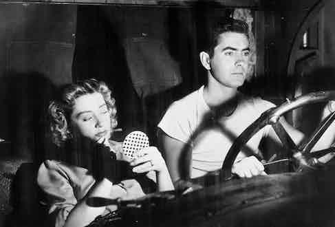 A film still of Power alongside Joan Blondell in Nightmare Alley, 1947 (Photo by SNAP/REX/Shutterstock (390875hd)