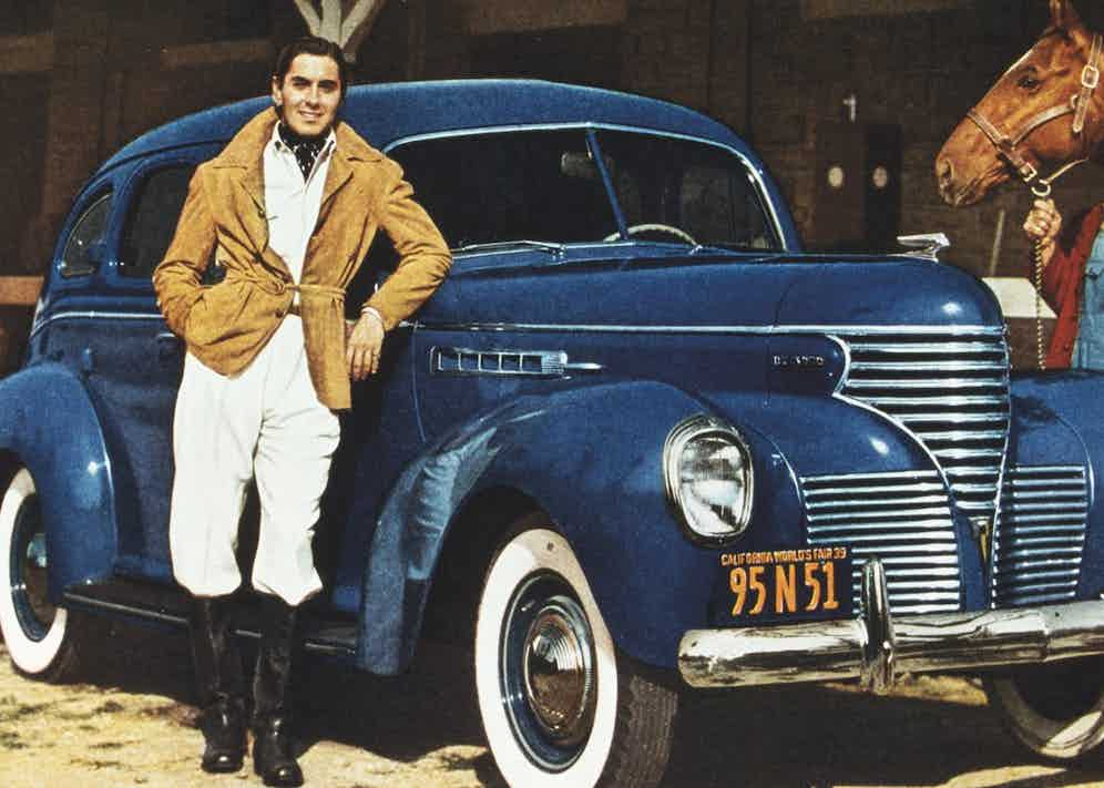 Power in motoring dress, replete with belted suede jacket and cravat, 1939 Photo by SNAP/REX/Shutterstock (390897jf)