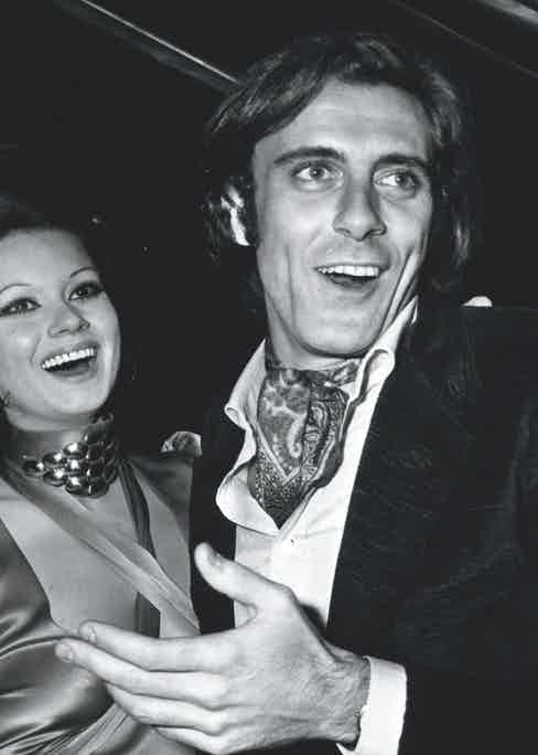 Displaying his elegant style at a party with the actress Gianna Serra, 1968 (Photo by Keystone Pictures USA/REX/Shutterstock (5363379af)