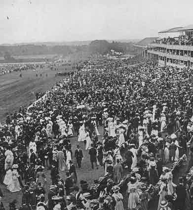 The Royal Enclosure and stands at Ascot, 1908 (Photo by Historia/REX/Shutterstock (7665065ql)