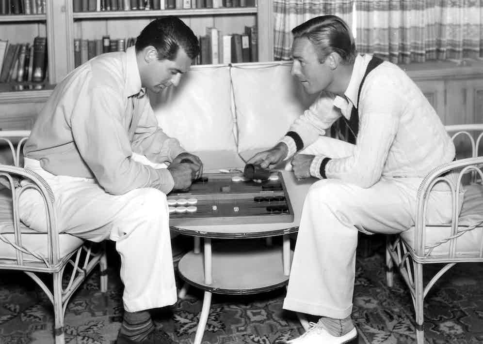 Cary Grant and Randolph Scott, 1935  (Photo by John Engstead/Paramount/Kobal/Shutterstock (5881238d)