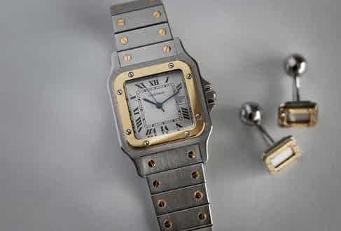 The 1978 two-tone Santos launched by Cartier under the stewardship of Alain-Dominique Perrin(© George Cramer)