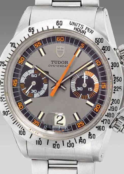 """A second series """"Monte Carlo"""" chronograph ref. 7159 with steel bezel (Image: Phillips.com)"""
