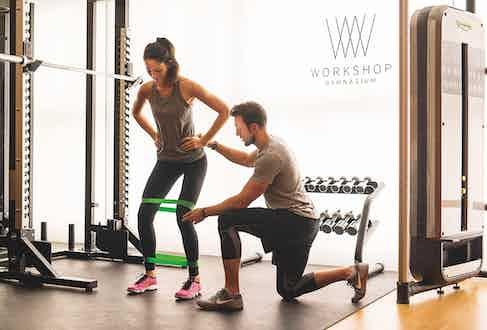 Lee Mullins trains at a Workshop gym