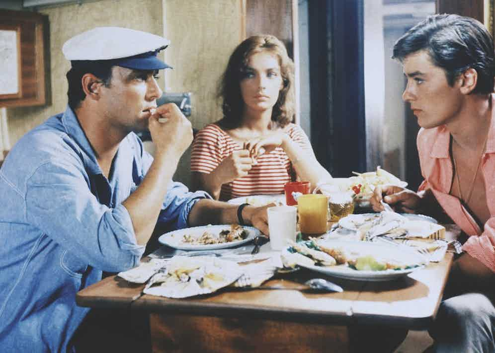 Delon, Ronet and Marie Laforet in another image from the movie (Image by © Alain Dejean/Sygma/Corbis)