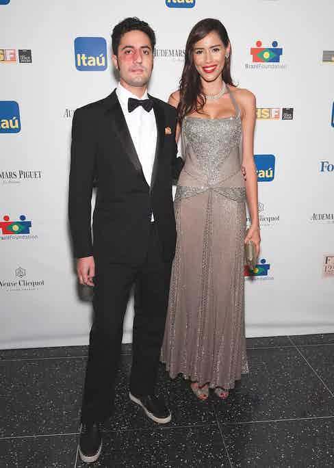 His son Julio Mario Santo Domingo III with Rebecca da Costa at a gala in New York in 2013 (Photo by D Dipasupil/FilmMagic)