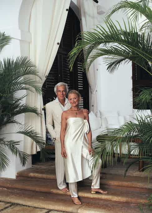 The inspiration: Ralph Lauren and Ricky Lauren at their Round Hill home in Jamaica. (Photo by Richard Corman and courtesy of Ralph Lauren)
