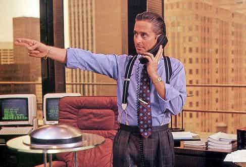 Actor Michael Douglas wore the Santos Galbee in the 1987 film Wall Street.