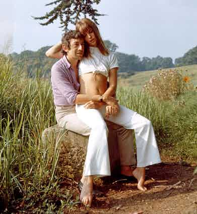 Serge Gainsbourg and Jane Birkin  (Photo by REX/Shutterstock (28536c)