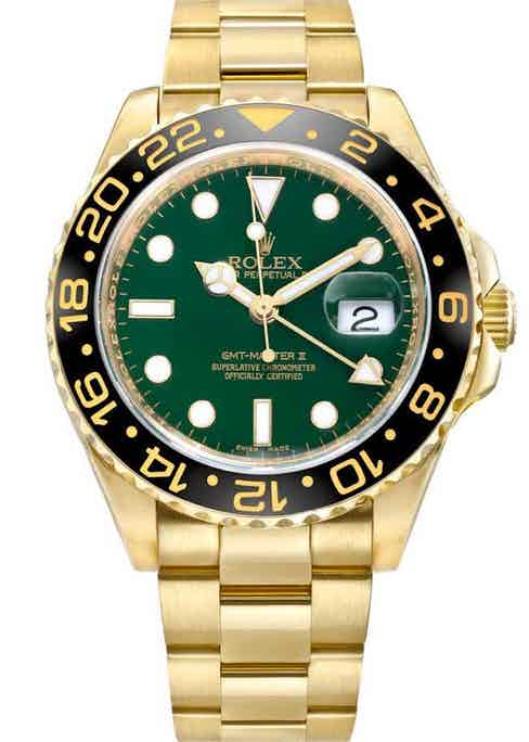 The 18k gold GMT-Master II reference 116718 introduced in 2005