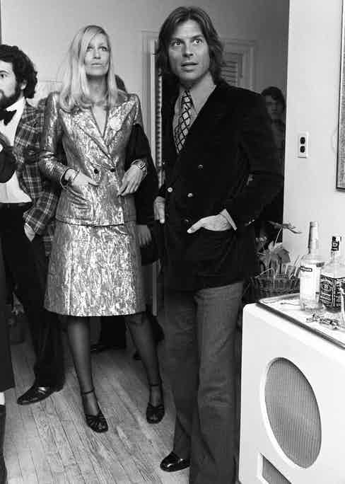 The Catrouxs at a party hosted by Francesco Scavullo in 1972.