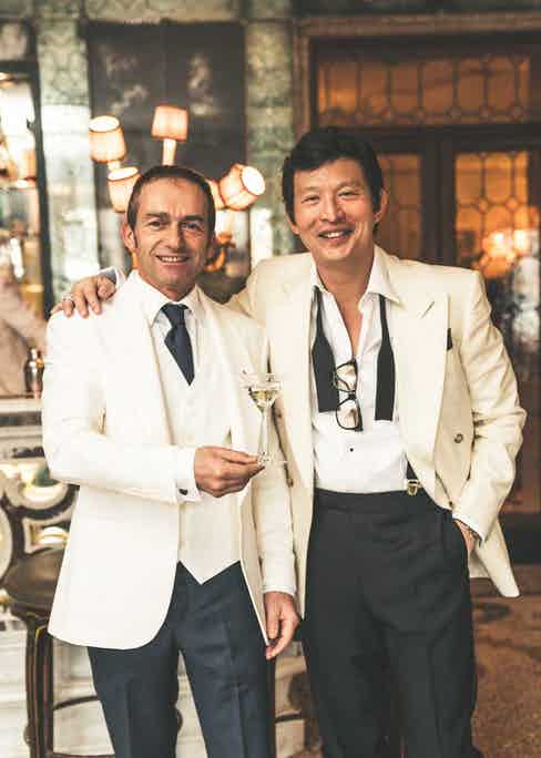 Wei sharing a moment with head barman at the Gritti Palance, Cristiano Luciani (©Revolution)