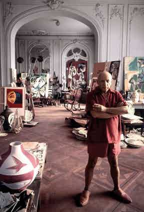 Picasso at his home in Cannes