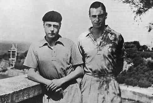 The Duke of Windsor with his younger brother Prince George, Biarritz, France, 1932 (Photo by Historia/REX/Shutterstock (7665075fv)