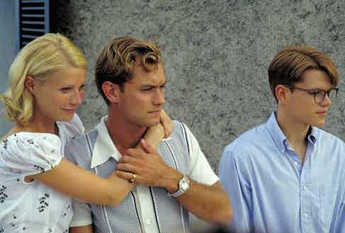Gwyneth Paltrow, Jude Law and Matt Damon in The Talented Mr Ripley, 1999