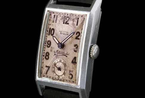 """A 1932 Tudor rectangular timepiece called the """"Cacatanachs. (Image: Tudor)"""