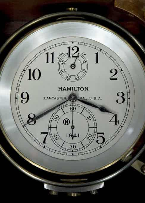 Hamilton Marine Chronometer displayed at the Smithsonian Institution in Washington, D.C. (Image: www.airandspace.si.edu)