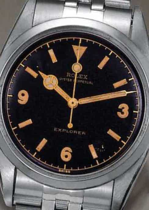 """The Rolex Explorer ref. 6350 with """"pencil"""" hands was the first reference to wear the mighty moniker – 'EXPLORER'."""