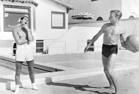 Cary Grant and Randolph Scott (Photo by Hulton Archive/Getty Images)