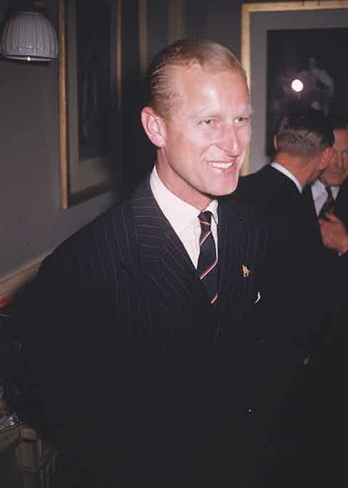 Prince Philip at the Royal Albert Hall in 1955 (Photo by Slim Aarons/Getty Images)