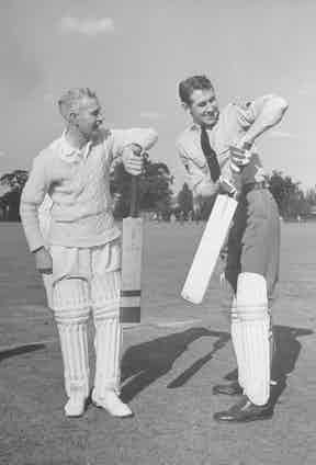 Slim trying his hand at cricket (Photo by David E. Scherman/The LIFE Picture Collection via Getty Images)