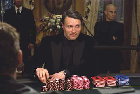 As the Bond villain Le Chiffre in Casino Royale (2006)