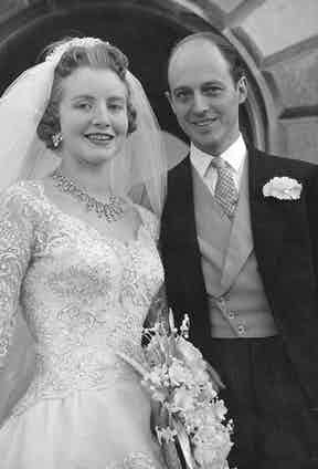 On his wedding day to Lady Anne Coke at Holkham Hall