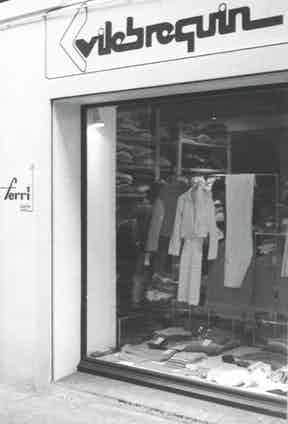 The first Vilebrequin shop, on Rue Sibille in Saint-Tropez