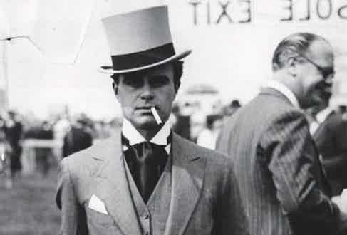 Prince Aly Khan at Chantilly races (Photo courtesy of Rex)