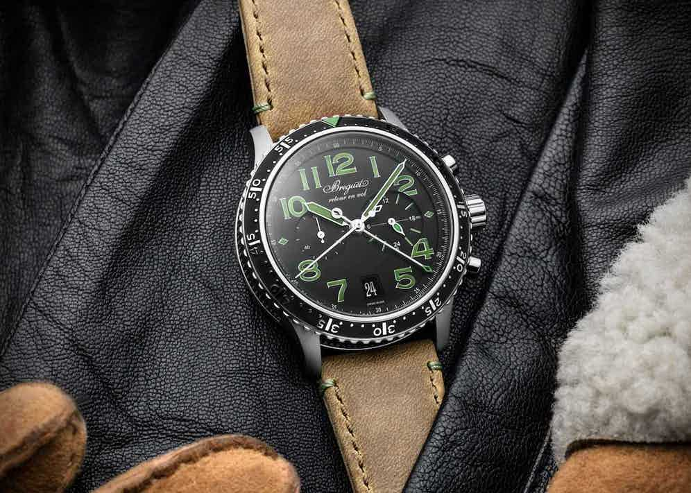 Breguet Type XXI 3815 with green indices