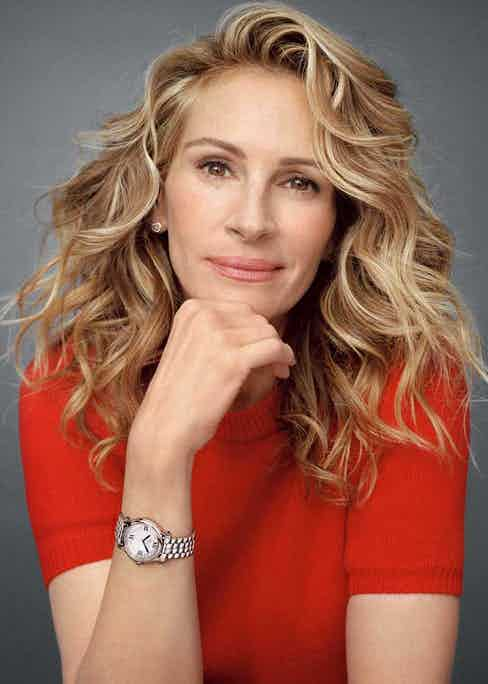 Actor Julia Roberts is Chopard's new face for the Happy Sport campaign (Image:Shayne Laverdière)
