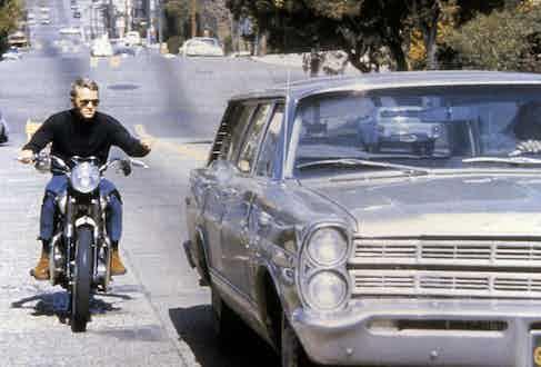 Steve McQueen in Bullitt, 1968 (Photo via Collection Christophe/Alamy)