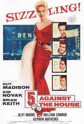 Poster of 5 Against the House (1955) (Photo by LMPC via Getty Images)