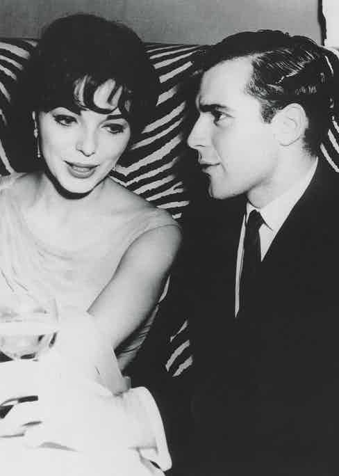 Taki and Joan Collins at El Morocco in New York, 1957