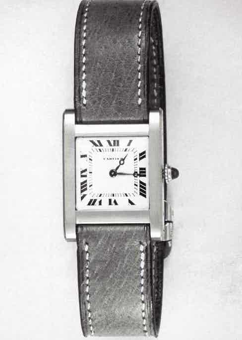 Cartier Tank watch from 1919, inspired by the boxy Renault armoured tank