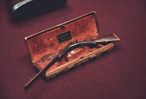 A miniature gun made for George V, presented for the Silver Jubilee