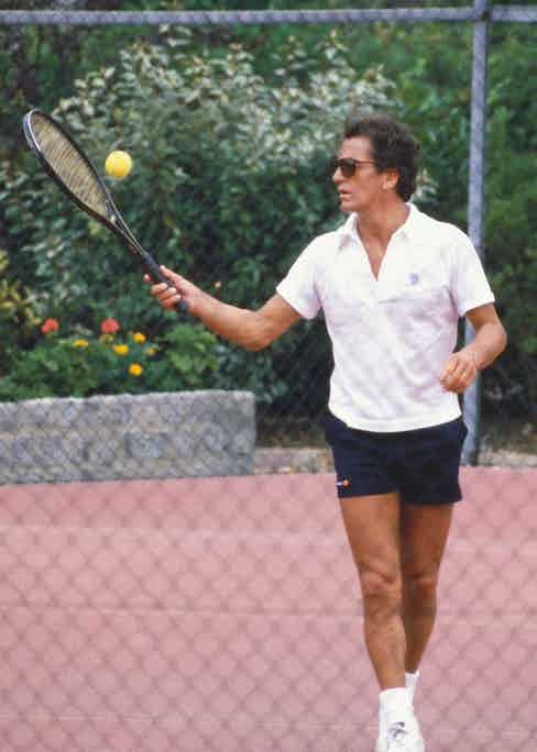 Junot playing tennis in Paris. (Photo by Francis Apesteguy/Getty Images)