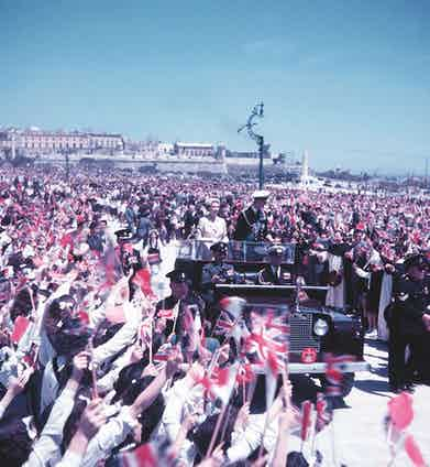 During the royal tour of Malta, 1954 (Photo by Popperfoto via Getty Images/Getty Images)