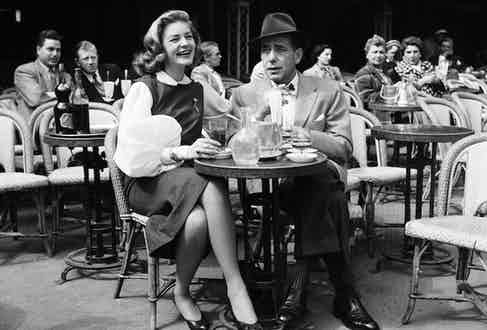 Lauren Bacall and Humphrey Bogart, Paris circa 1950s