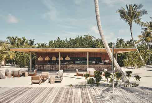 A spot for sundowners at Patina Maldives' Veli bar.