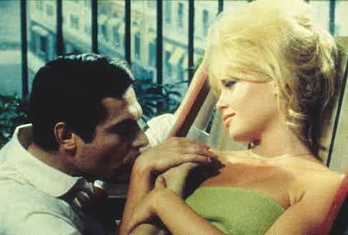 Marcello Mastroianni and Brigitte Bardot in French romantic drama A Very Private Affair, 1962 (Photo by Moviestore/REX/Shutterstock (1541395a)